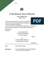 FINAL JUDGMENT 2021 No 162 Civ a Brewster Et Al v the Premier of Bermuda Et Al With Citation