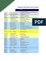 Calendários dos blocos 2011