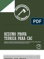RESUMO PROVA TEÓRICA PARA CAC 2021