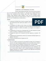 Resolución LPF