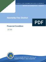 Henrietta Fire District Audit