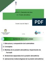 Diapositvas Unidad 2-3 Presion atmosferica