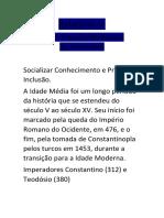 Relatório 5 - Filosofia Medieval e Renascimento