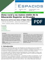 Educación en Zonas Rurales del Ecuador