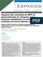 TEXTO - Impacto dos conceitos do MRP no