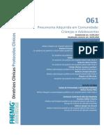 061 - Pneumonia Adquirida Em Comunidade Crianças e Adolescentes