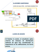 Sistemas de distribucion de agua fria- sistema indirecto