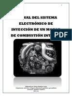 Manual del del sistema electrónico de inyección de un motor de Combustion interna