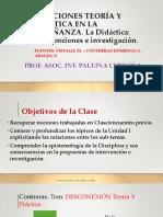 RELACIONES TEORÍA Y PRÁCTICA EN LA ENSEÑANZA, DIDACTICA E INVESTIGACIÓN 2021