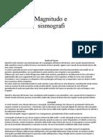 magnitudo e sismografi