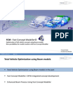 Optimization of Full Vehicle Concepts Using Beam Models