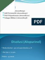 Disolusi (Alopurinol)