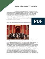 Histoire Du « Nouvel Ordre Mondial » , Par Pierre Hillard