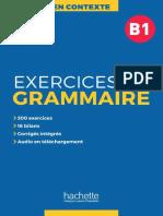 En Contexte - Exercices de Grammaire B1