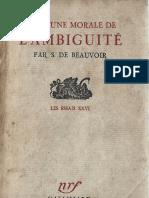 Simone de Beauvoir - Pour Une Morales de l'ambiguïté
