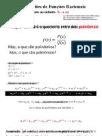 Semana 5 - aula I (Limite de funções racionais)