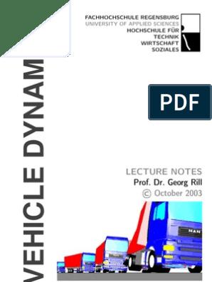 汽车NVH相关资料] [Automotive]Rill - Vehicle Dynamics (2003