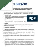 Edital Transferencia Medicina 2021.2 UNIFACS 1