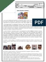 ATIVIDADE SETIMO ANO - ARTES VISUAIS E CULTURA