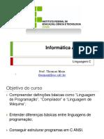 Informática Aplicada - Linguagem C