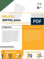 Selo EJ - Edital 2021