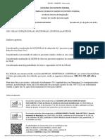 Memorando da Secretaria de Saúde do Distrito Federal