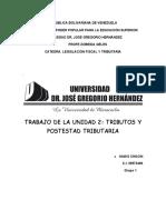 2DO INFORME DE LEGISLACION FISCAL Y TRIBUTARIA