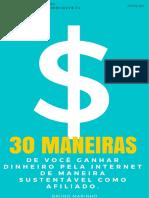 30 Maneiras de Ganhar Dinheiro na Internet