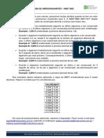 REGRA DE ARREDONDAMENTO - ABNT 5891