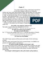 Psalm 23 4th Sunday Lent (4-3-11)
