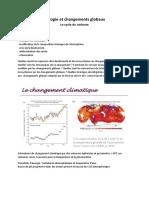 Ecologie Et Changements Globaux
