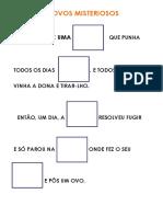 EF Atividade Portugues Livro Os Ovos Misteriosos Pictograma