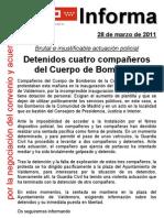 2011.03.28.Protesta Bomberos CM en Valdemoro y Detenciones