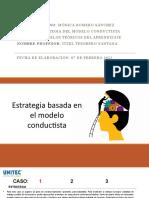 Estrategia del modelo conductista