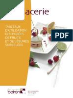 en glacerie TABLEAUX D UTILISATION DES PURÉES DE FRUITS ET DE LÉGUMES SURGELÉES 100 % goût zéro compromis, my-vb.com