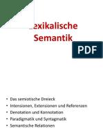2- Ppt - Lexikalische Semantik