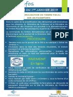 Dematerialisation Droit Timbre Passeport