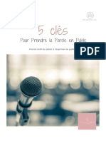 Les 5 Cle%CC%81s Pour Prendre La Parole en Public