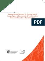 Evaluación del Modelo de Gestión Social Integral para la Promoción de los DHSR