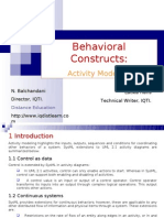 Behavioral Constructs