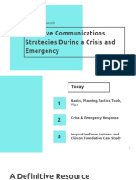Capacity Building - Effective Communication Strategies During a Crisis