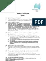 FAQ Recency of practice