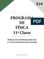 PROGRAMA DE FÍSICA  11ª CLASSE