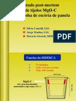 Estudo post-mortem de tijolos MgO-C para linha de escória de panela