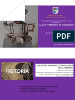 1° semana de clase_la Historia