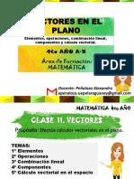 Clase 11. Vectores -Matemática 4to Año