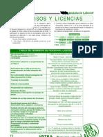 permisos y licencias laborales Andalucía