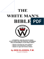 A Bíblia do Homem Branco -  Ben Klassen