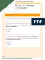 Primer Parcial Ciclo 2021 Clínicas de Derecho Civil Día Sábado E