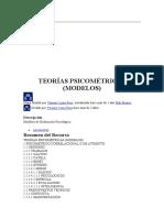 TEORÍAS PSICOMÉTRICAS (MODELOS) Mapa Mental